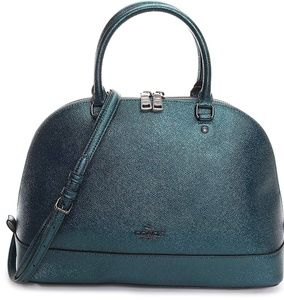 Coach Metallic Crossgrain Sierra Leather Satchel